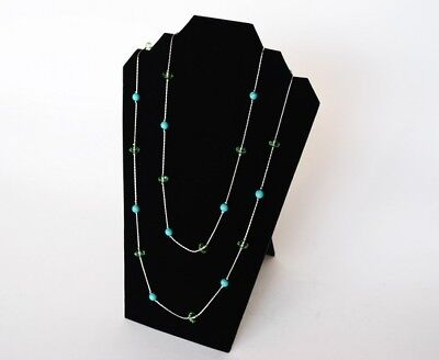 12 X 8 Black Velvet Necklace Pendant Chain Jewelry Display Easel Stand Pj17b