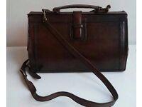 REDUCED: Vintage Brown Genuine Leather Bag