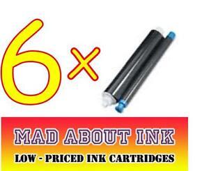 6x-Panasonic-KX-FA52X-Fax-Pelicula-De-Tinta-Rollos-KX-FC225-KX-FC226-KX-FC228