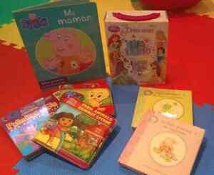 Lot de livres et d'imagiers Dora, Disney et Looney Tunes