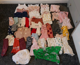 Girls 0-3 Month Baby Clothes Bundle