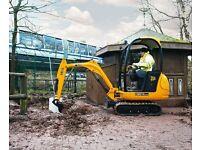 man & digger hire plant hire jcb mini digger