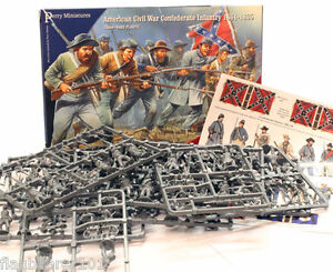 PERRY MINIATURES - AMERICAN CIVIL WAR CONFEDERATE INFANTRY 1861-1865  28MM
