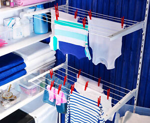 ikea wall mount drying rack air dry laundry clothes hanger holder shelf antonius. Black Bedroom Furniture Sets. Home Design Ideas