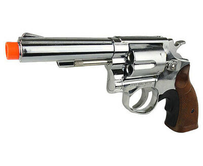 - HFC 357 Magnum HG-131C Chrome Gas Revolver Full Size Metal Airsoft Pistol