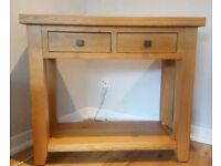 Oak console / hall table /sideboard