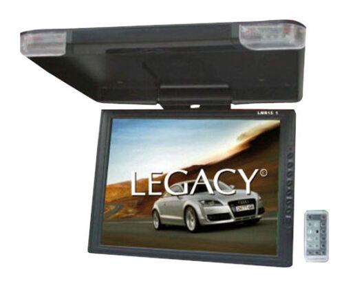 "LEGACY LMR15.1 15"" LCD TFT Car/SUV/TRUCK Flip Down Roof Mount Monitor TV IR"