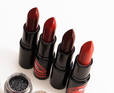 Mac Rocky Horror Picture Show 4 Lipsticks Black Glitter Gold Glitter Halloween