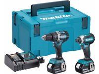 Brand new makita 5.0ah combi drill set