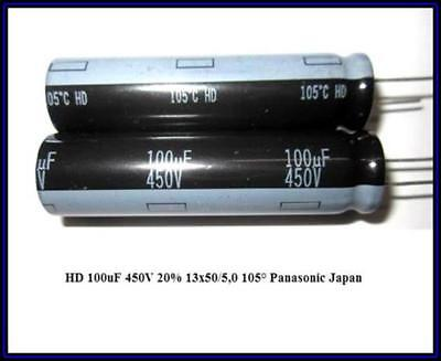 Panasonic HD 100µF 450V 105° Elko Kondensator Netzteil Reparatur 2 Stück ()
