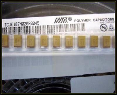 Tantalum Polymer Capacitor Kondensator Smd 100f 20 20v Case E 4 Stck