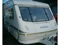 1994 elddis mistral xl light weight caravan comes with awning and motormover