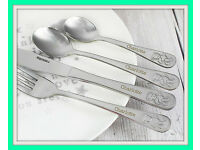4 pc Teddy Cutlery Set
