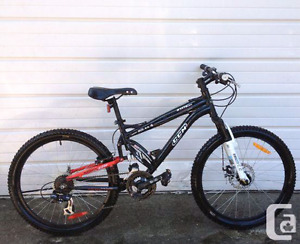 "CCM Static 24"" dual suspension mountain bike fpr sale, 80$"