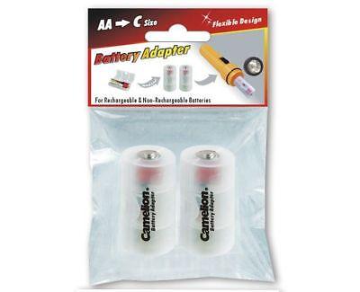 Adapter Mignon AA auf Baby C für Akkus und Batterien Camelion im 2er-Pack