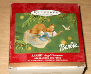 Barbie Doll Christmas Ornaments Lot