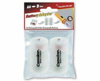 Adapter Mignon AA auf Mono D für Akkus und Batterien im 2er-Blisterpack Adapter Blister Pack