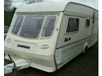1994 compass gts 5 berth caravan light weight with a full awnings