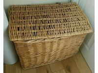 Large basket with hinged lid