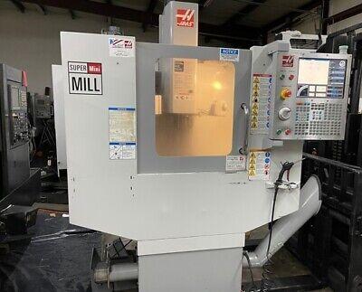 Used Haas Super Mini Mill 2008 10k Rpm Cat 40 Rigid Coolant Auger Low Hours