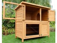 BRAND NEW UNUSED TOP QUALITY DOUBLE RABBIT HUTCH - £135