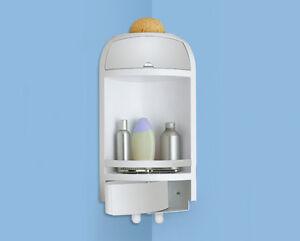 Angoliera doccia portasapone gedy resina bianco serie accessori bagno 40415 ebay - Angoliera bagno ...