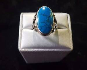 Turquoise Silver Ring $75