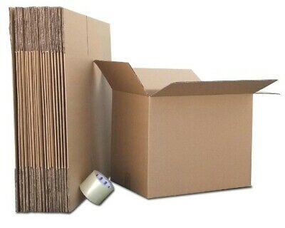 10x10x10 - 50 Corrugated Boxes For Moving - Packing - Shipping Boxes