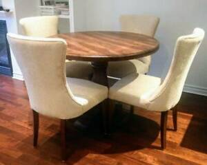 "Pier 1 Chaises ""Lexie"" Champagne - Dining Chair Set - $500"