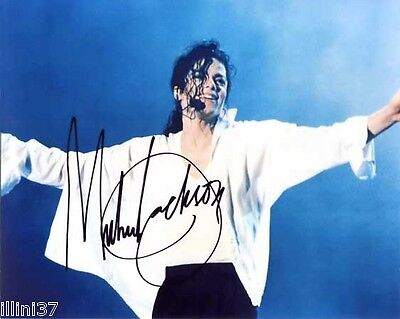 MICHAEL JACKSON SIGNED AUTO AUTOGRAPHED 8 X 10 PHOTO #1 RP