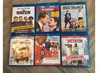Six bluray DVDs