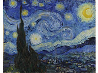 """Framed print of """"The Starry Night"""" by Van Gough."""