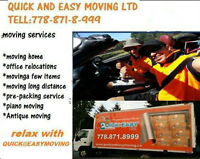 Quick &Easy Moving Registered and insured ALL BC & LONG DISTANCE