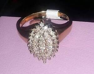 Diamond Ring 10k Gold $200