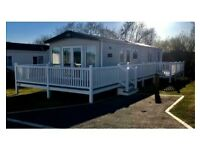 Stunning Static Caravan with front and side deck.