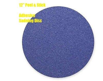 Ten Psa Sanding Discs 12 Inch 50 Grit Alumina Zirconia Backing Weight Blue
