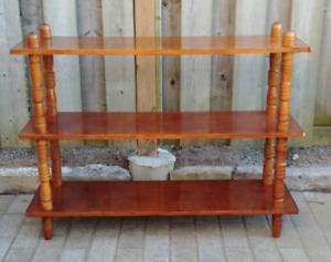 Oak Coloured Shelving Unit/Bookshelf - 3 shelves