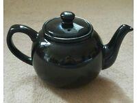Classic Brown Ceramic Teapot