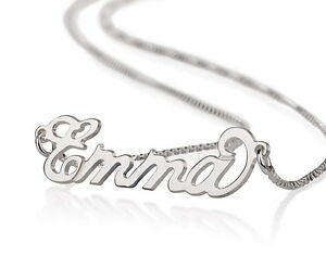 Any Personalised Name Necklace 925 Sterling Silver Name Chain