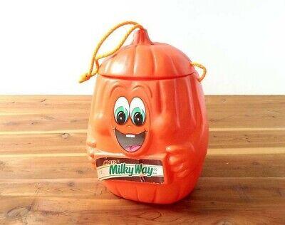 Milky Way Pumpkin Halloween Blow Mold Trick Or Treat Bucket Candy Bar Container
