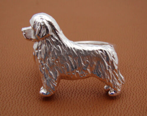 Small Sterling Silver Newfoundland Standing Study Ring