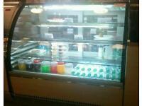 Cake Pattiserie Display Fridge Glass LED Cafe Restaurant
