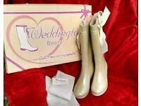 ❤️WEDDINGTON BOOTS❤️ with heel!! Bridal / Glasto festival wellies