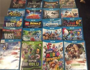 Lots of Wii u games all good-excellent condition