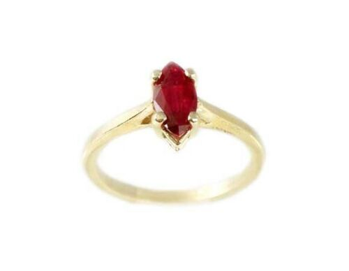 """19thC Antique Ruby Ancient Hebrew Israel Biblical Lord of Gems""""Amulet Ring 14kt"""