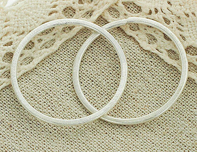 Tribe Silver 30mm - Karen Hill Tribe Silver 2  Brushed Circle Jump Ring 30mm.