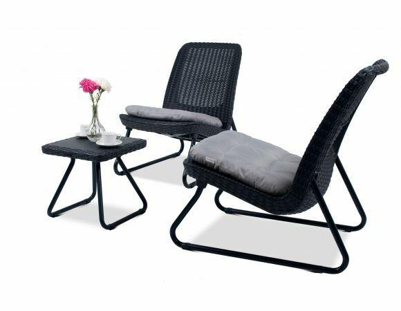 Garden Furniture - Keter Garden Furniture Set Chairs Coffee Table Patio Balcony Outdoor Modern HQ