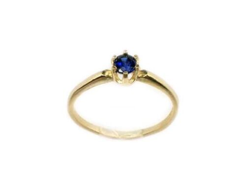 Blue Sapphire Gold Ring Antique 19thC Medieval Sorcery Prophecy Black Magic 14kt