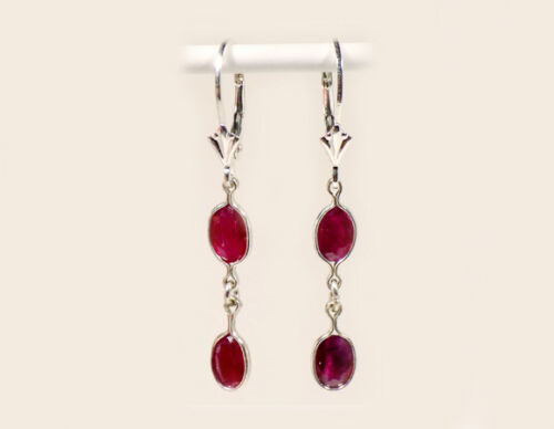 Ruby Earrings 2½ct Antique 19thC Medieval England Coronation Gem Ward off Danger
