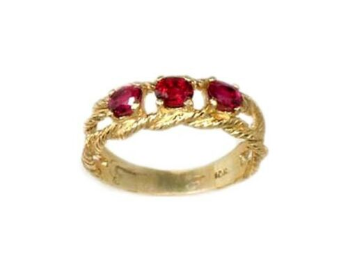 Gold Ruby Ring ¾ct Siam Antique 19thC Gem of Ancient Asia Warrior Invincible 10k
